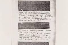 "Fluxus ""Manifestas"" / Fluxus Manifesto"