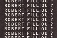 Roberto Filliou kortelė / Robert Filliou name card