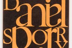 Danielo Spoerry kortelė / Name card of Daniel Spoerry