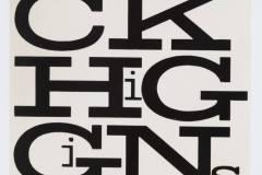 Dicko Higginso kortelės maketas / Paste/mock-up for Dick Higgins name label