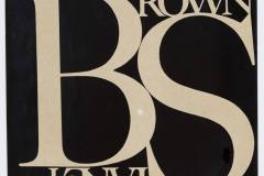 Stanley Browno kortelės maketas / Paste/mock-up for Stanley Brown name label
