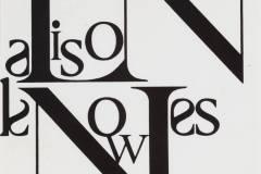 Alison Knowles kortelės maketas / Paste/mock-up for Alison Knowles name label