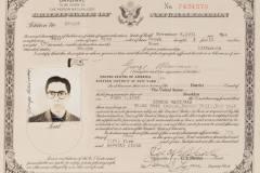 Natūralizacijos sertifikato kopija / U.S. Certificate of Naturalization